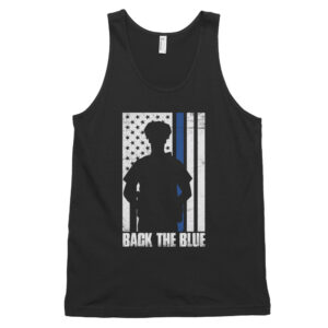 Police Office Thing Line Flag Back Drop Classic tank top (unisex)