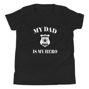 My Dad Is My Hero Police Officer  Youth Short Sleeve T-Shirt