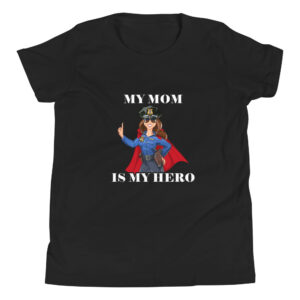 Mom Is My Hero Police Officer Youth Short Sleeve T-Shirt